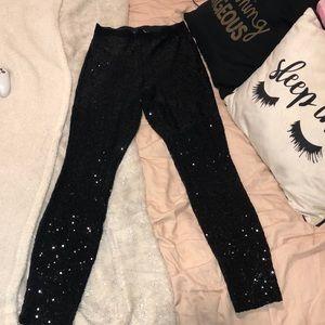 bb dakota black sequin leggings